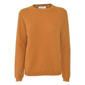 Sus Honey Pullover fra danske Wuth Copenhagen. 100% cashmere sweater i den højeste kvalitet. Flotte farver og nuancer fra orange til brun.