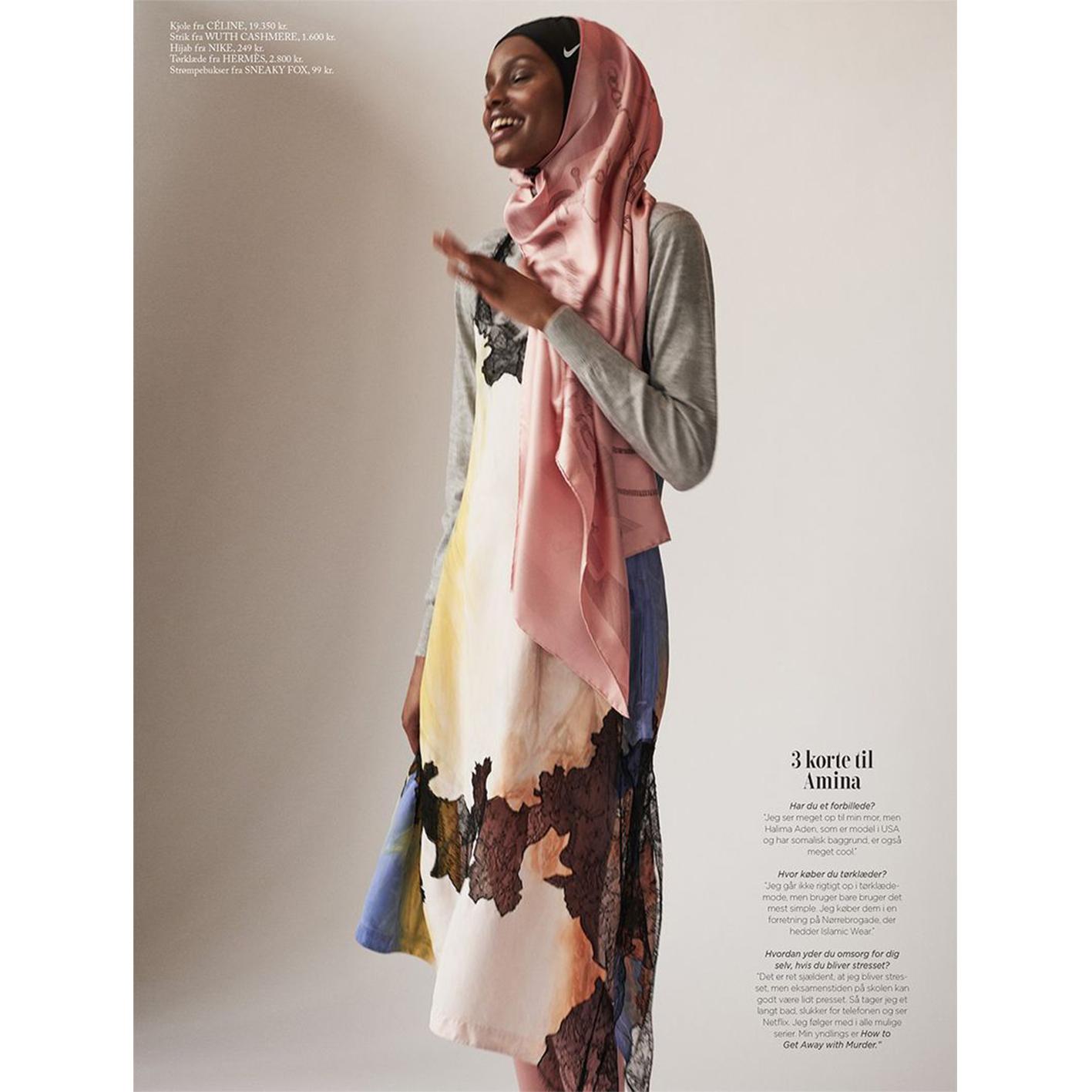 Amina Adan i vores bløde cashmere bluse i magasinet Eurowoman