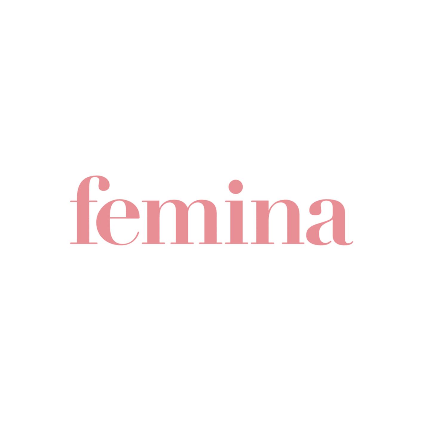Wuth Cashmere i Femina. Lyserødt logo