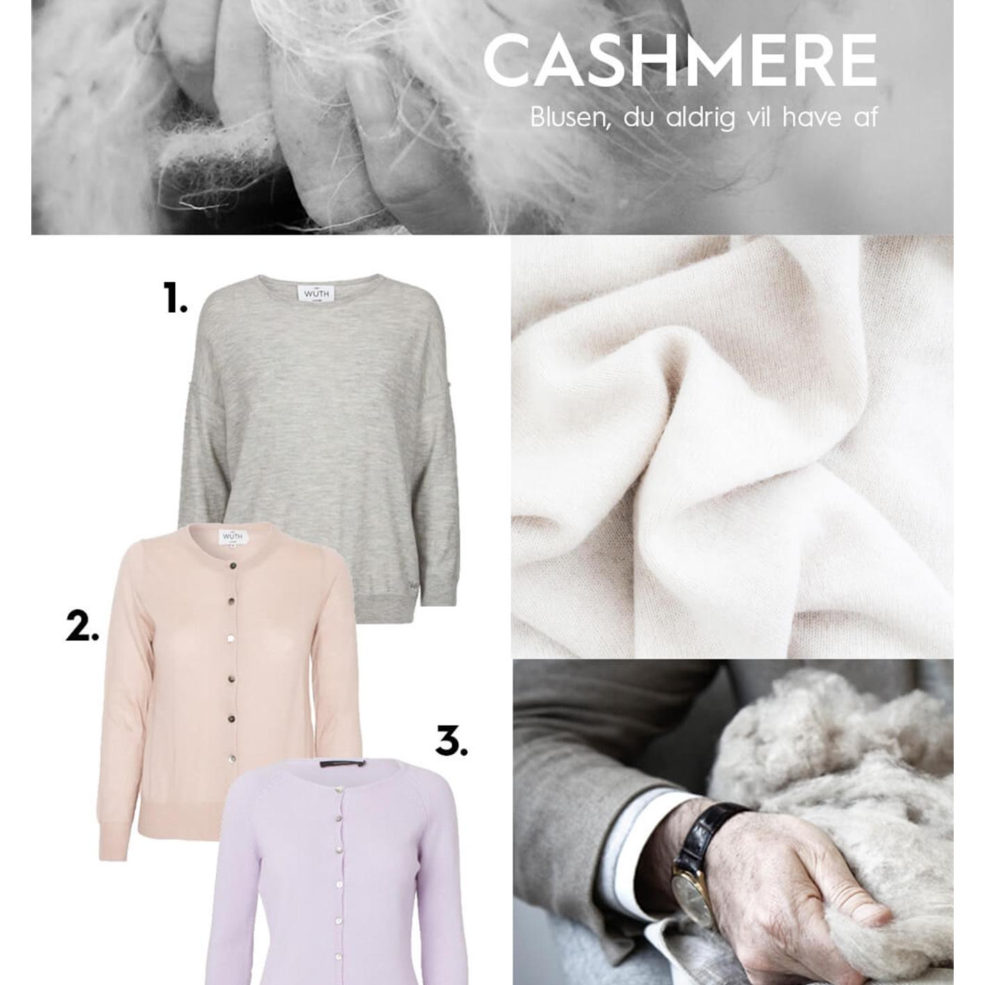 Wuth Cashmere bluse og cardigan i Hausfrau