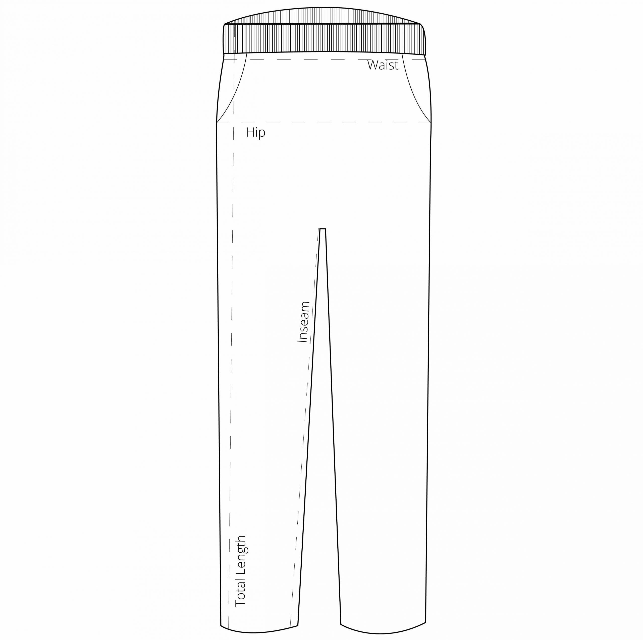 Størrelsesguide - hvordan vi mål vores bukser