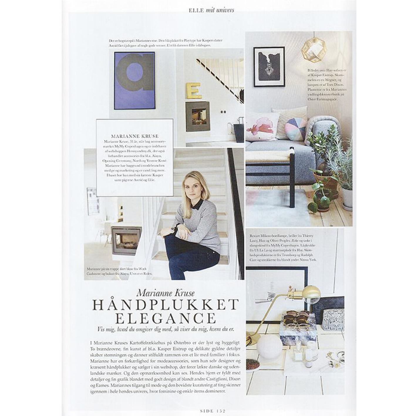 Wuth Cashmere bluse i det danske magasin Elle