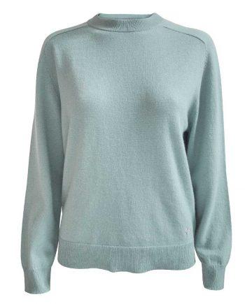 Caroline pullover i en flot jade grøn farve. Klassisk cashmere bluse fra Wuth Copenhagen.