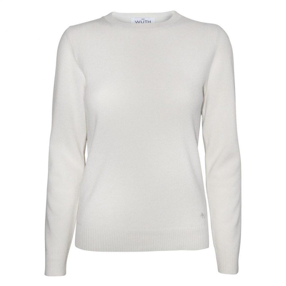 Vores klassiske cashmere bluse fra Wuth Cashmere er perfekt til et klassisk look. Find vores klassisk pullover i flere flotte farver. Vores yndlings er denne fin råhvide farve.