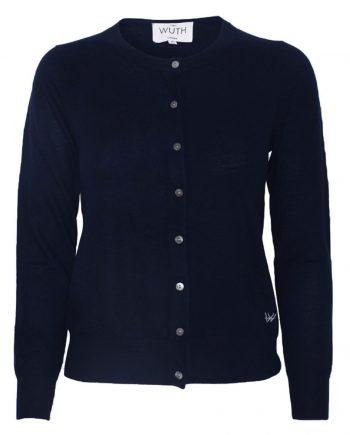 Light Klassisk Pullover i 100% premium cashmere fra Wuth Copenhagen. Klassisk flot navy cardigan til kvinder.