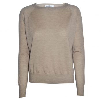 Light Pearl Pullover in a camel color. The finest and thinest cashmere quality, which is perfect for spring and summer time..
