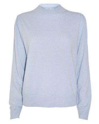 Pufærmet cashmere pullover fra Wuth Copenhagen. 100% premium cashmere med flotte pufærmer