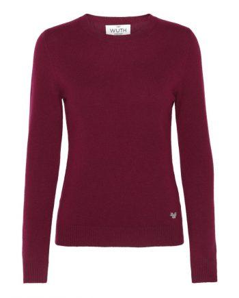 Vores klassiske cashmere bluse fra Wuth Cashmere er perfekt til et klassisk look. Find vores klassisk pullover i flere flotte farver. Vores yndlings er denne flotte blush bordeaux røde farve.