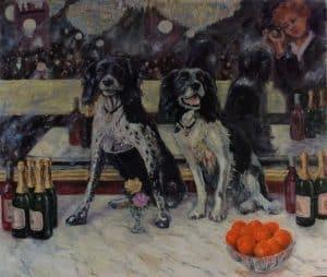 Impressionist Dog portrait