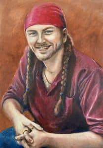 Ollie Smith Portrait by Francesca Wyllie in Oil
