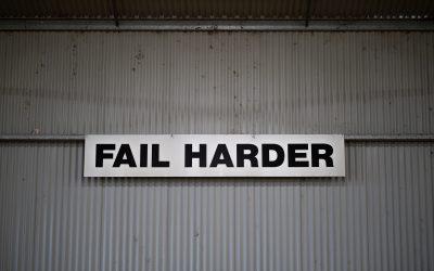 The sense of having the guts to fail
