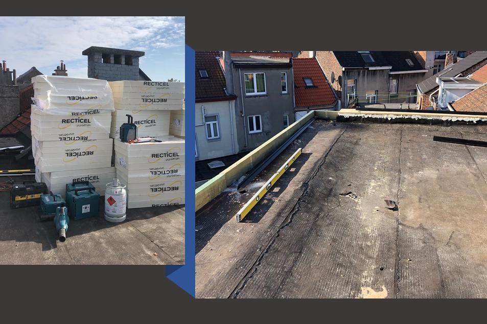 plat dak in Vilvoorde