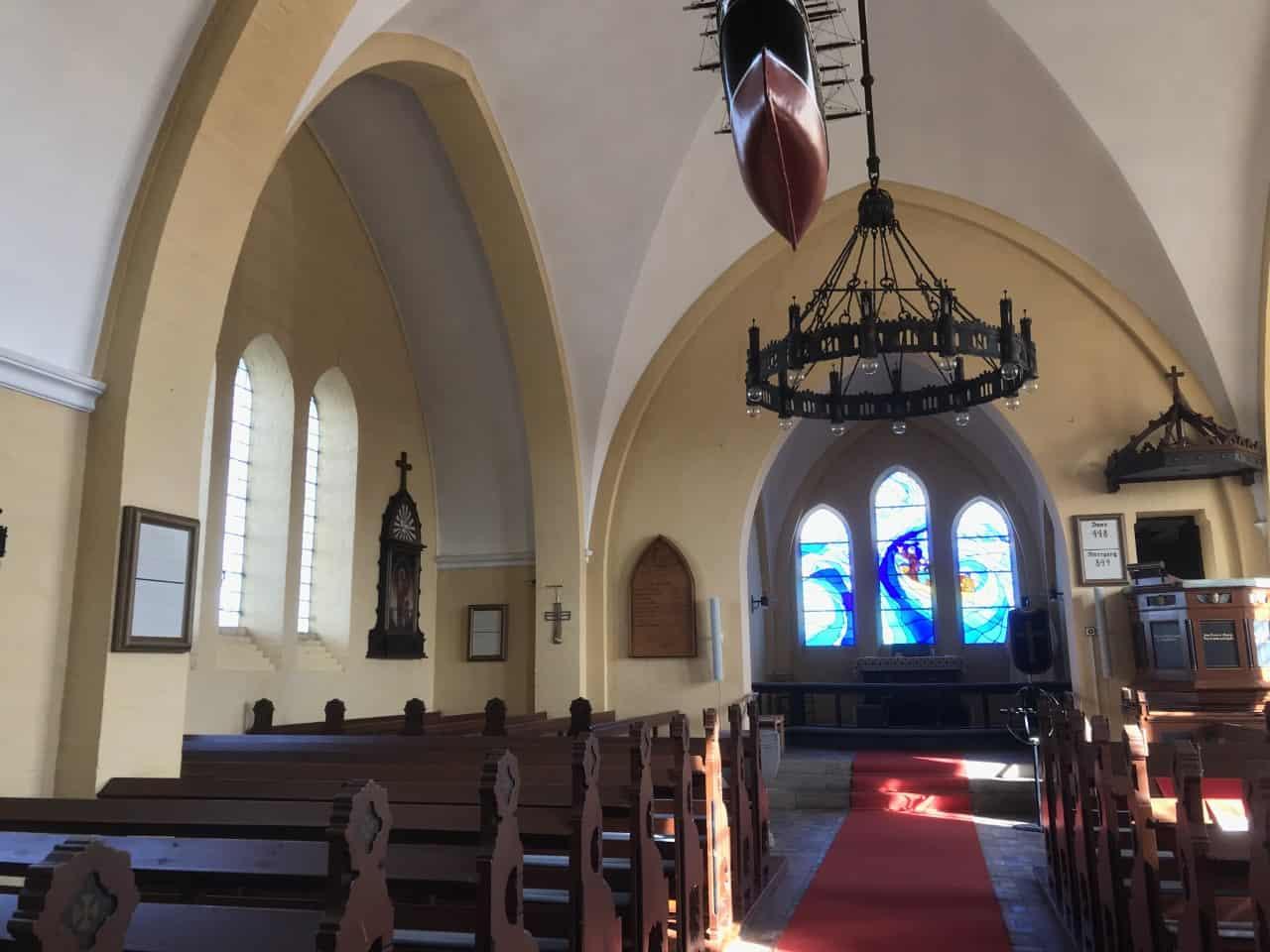 Bagenkop Kirke altergang