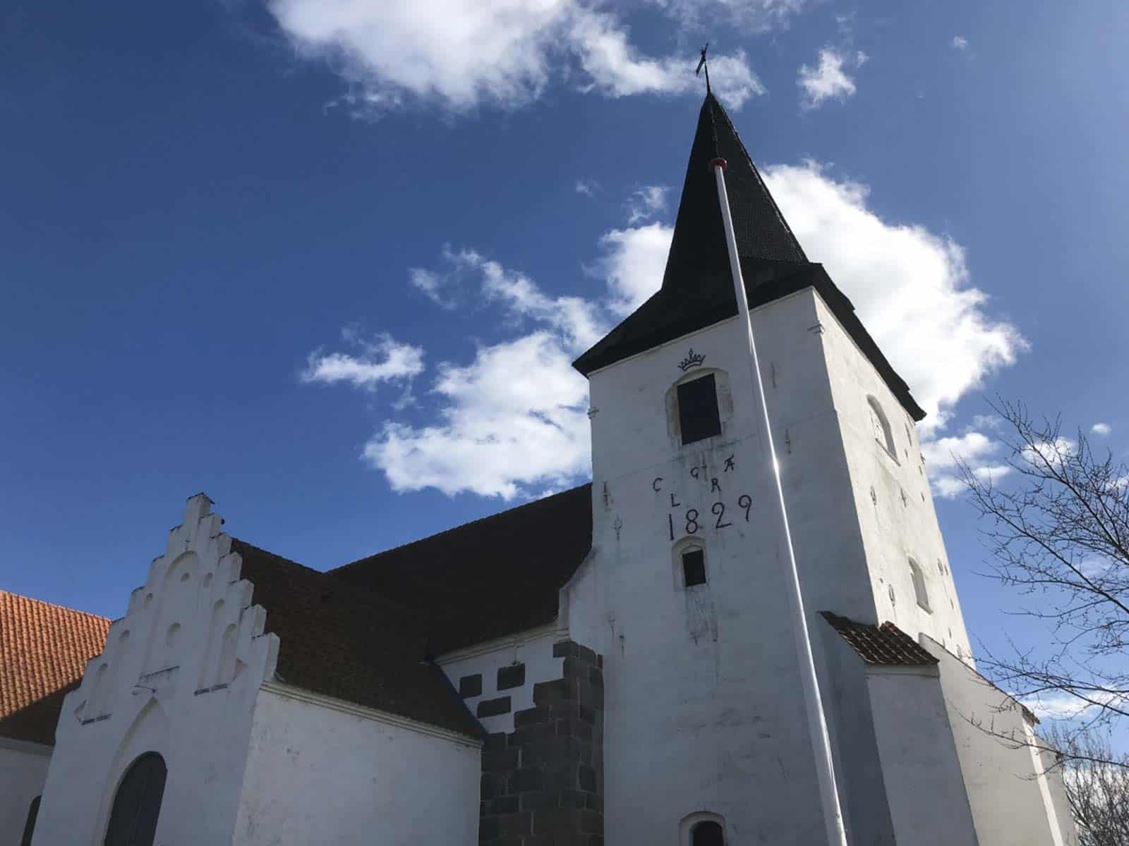 Magleby Kirke kirketårn