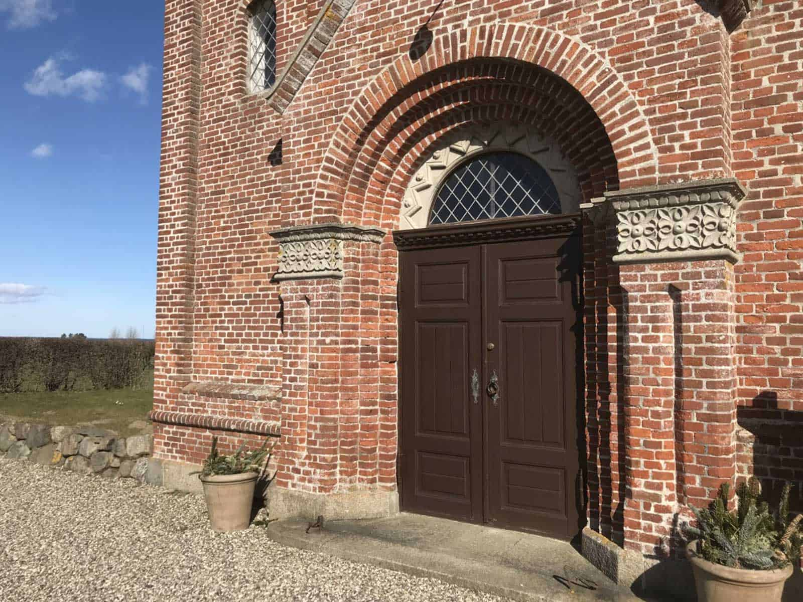 Ristinge Kirke facadeindgang