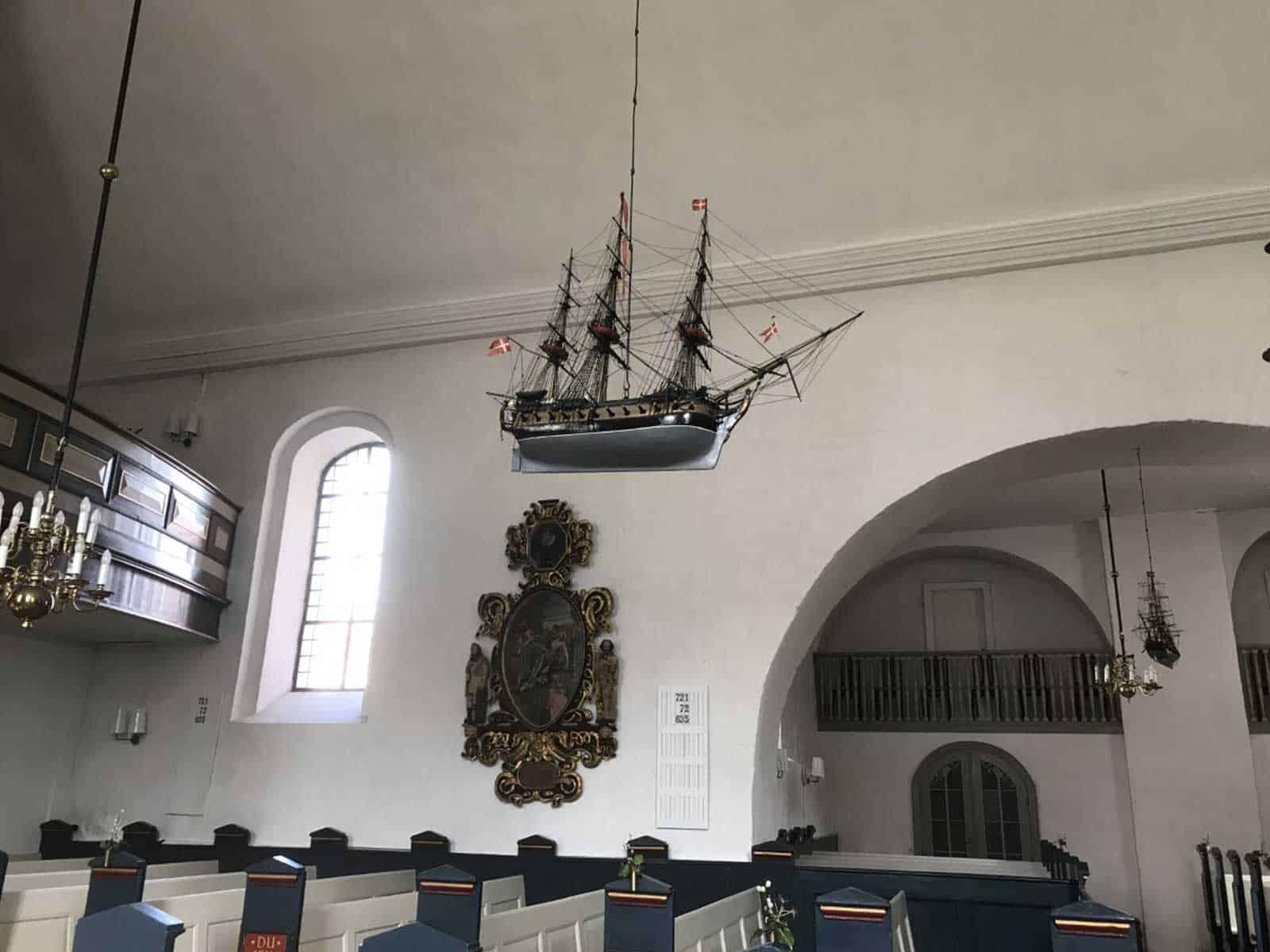 Rudkøbing Kirke kirkeskib
