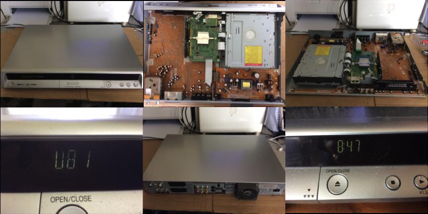 Repair of Panasonic DMR-EZ25 DVD Recorder
