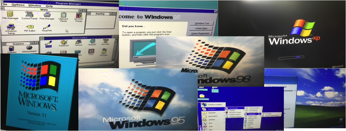 Legacy Computing –  Windows through time