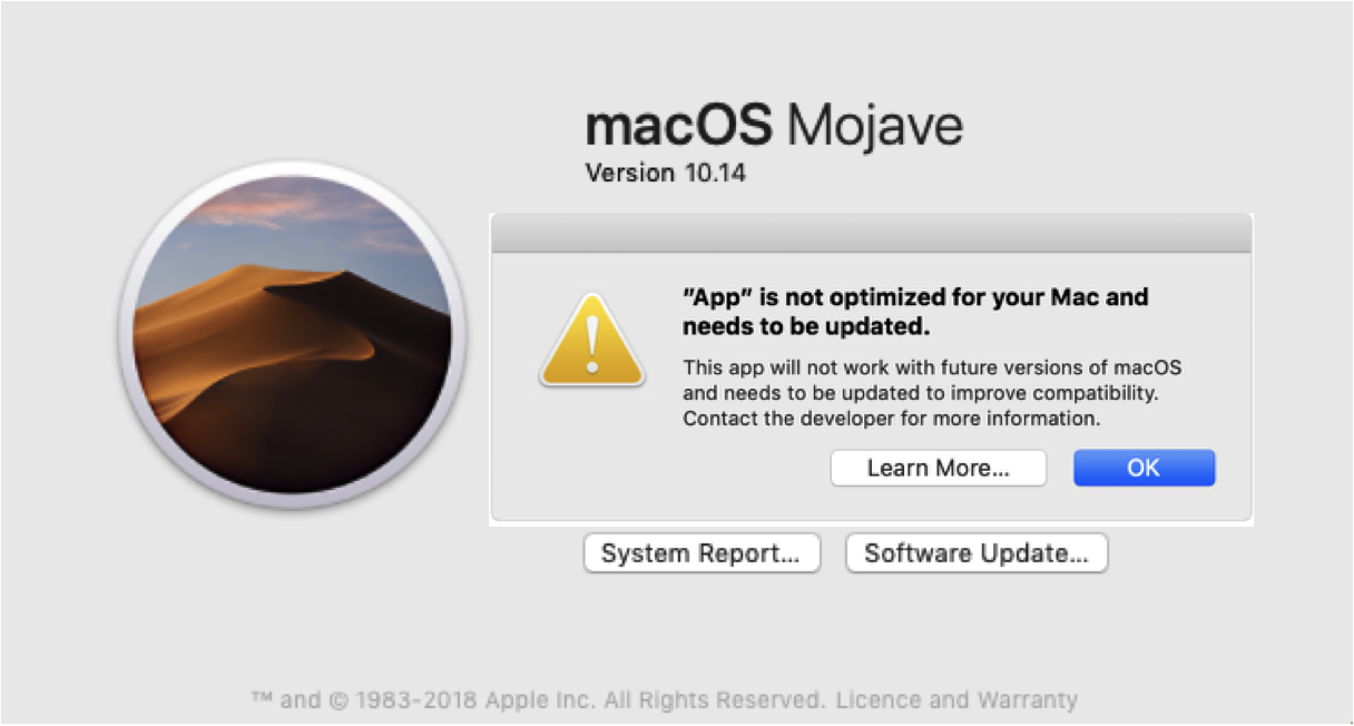 Apple macOS 64-bit transition – Software 'Legacy' issues