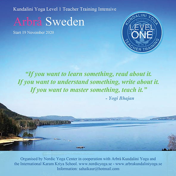 KYoga Level 1 Arbrå Sweden 2020 @ Arbrå Kundalini Yoga and Nordic Yoga Center Arbrå