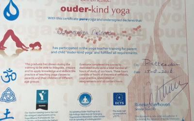 Certificaat Ouder en Kind Yoga