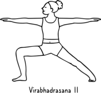 Virabhadrasana II 185