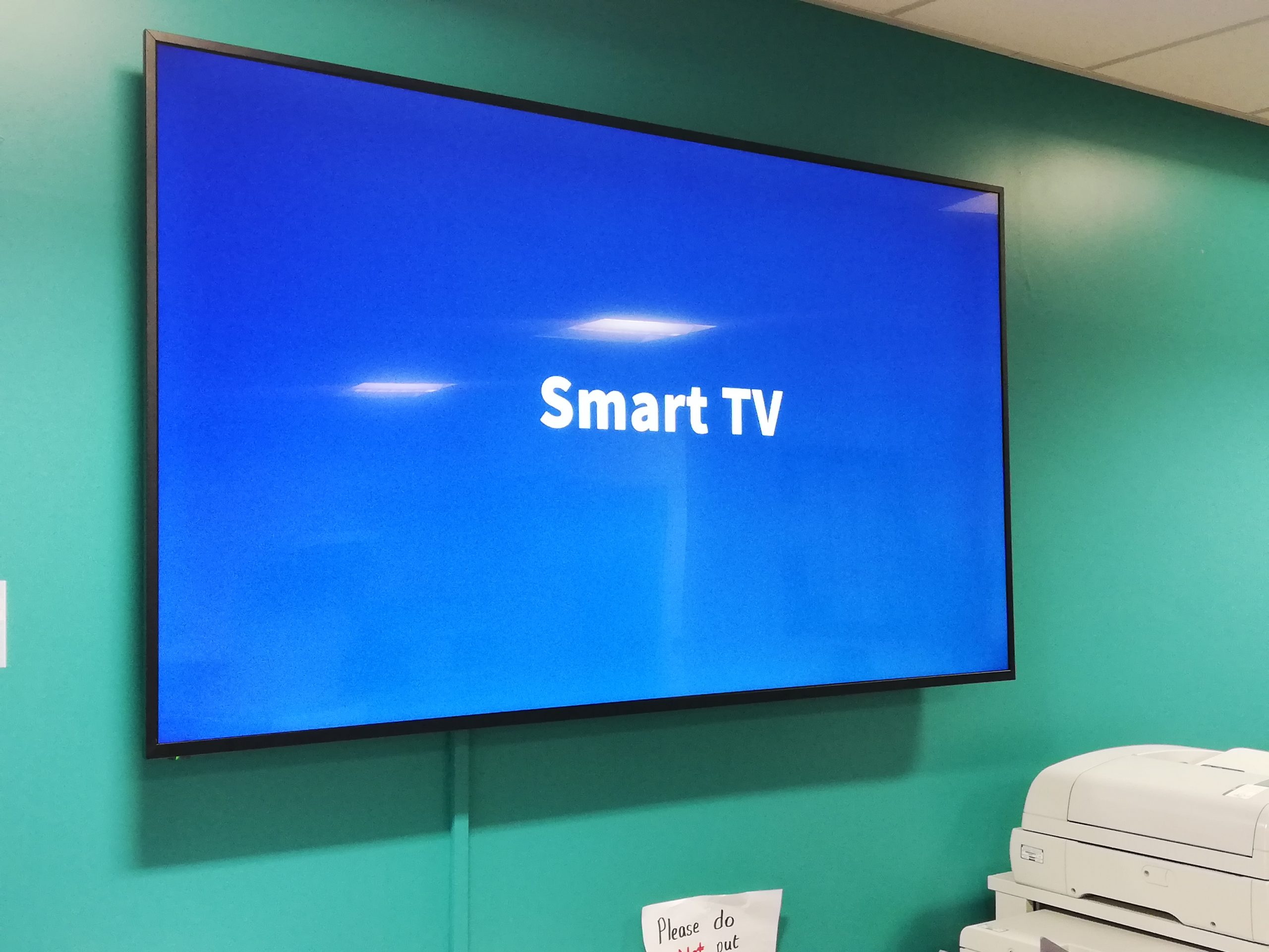 Staffroom smart TV