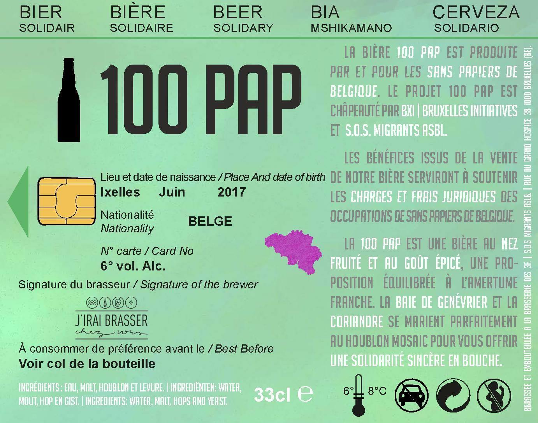 Bière solidaire 100pap