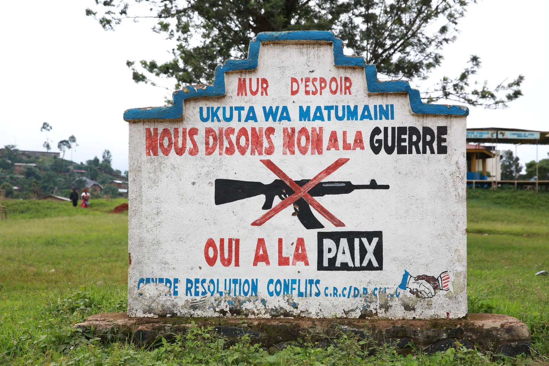 Beni, Nord Kivu, RD Congo. 4 décembre 2014 - Mur d'espoir