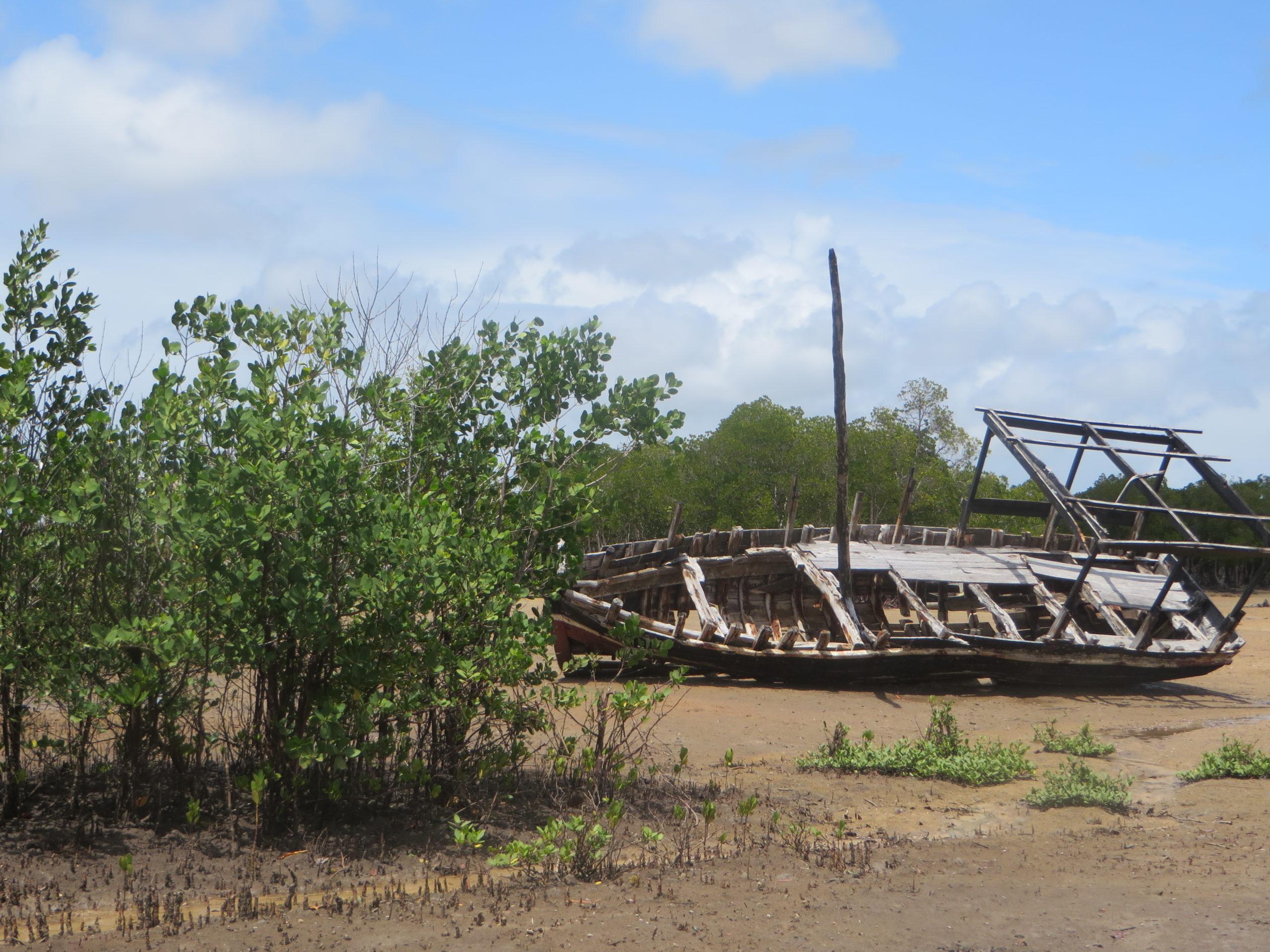 Funzi Island - Large boat