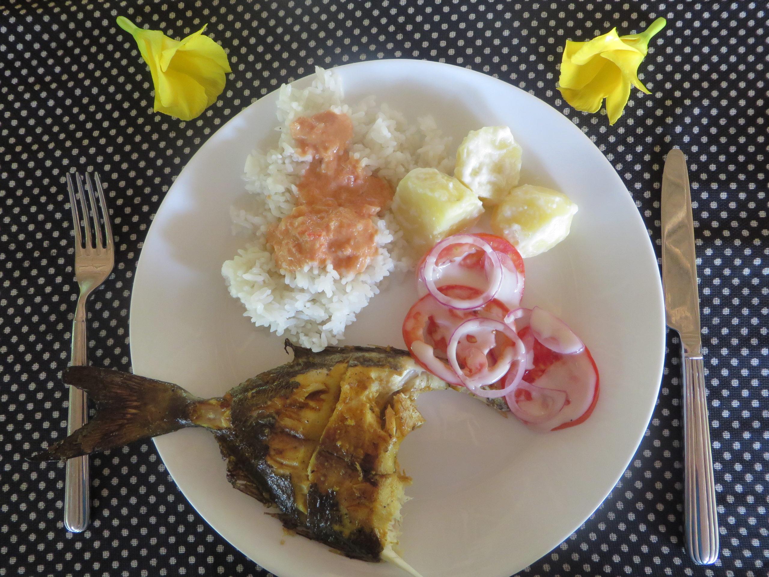 Funzi Island - Lunch fish