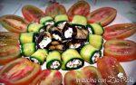 antipasto zucchine e melanzane con feta