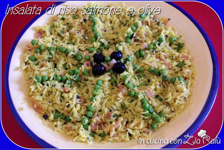insalata di riso salmone e piselli