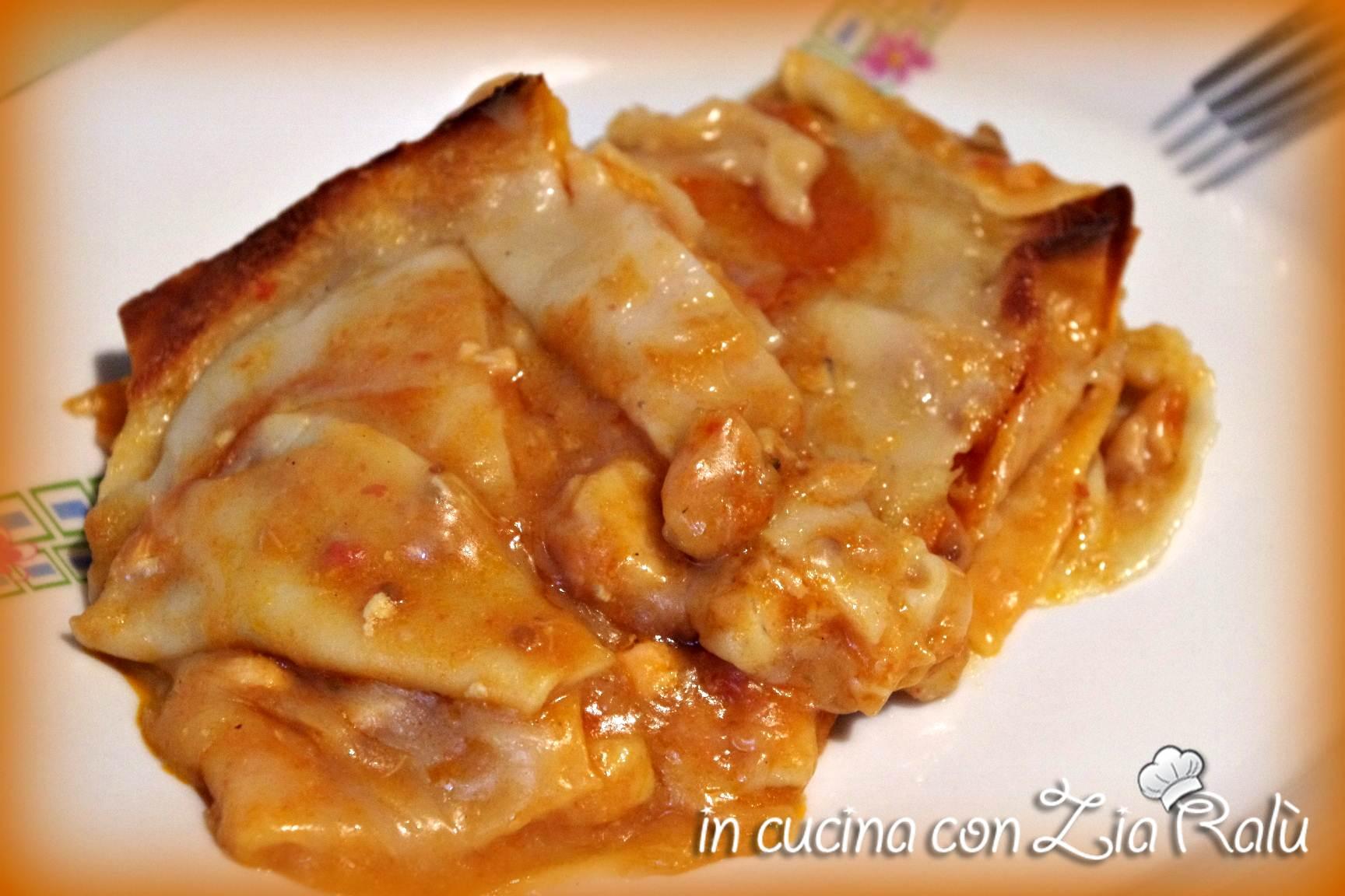 lasagne e pesce