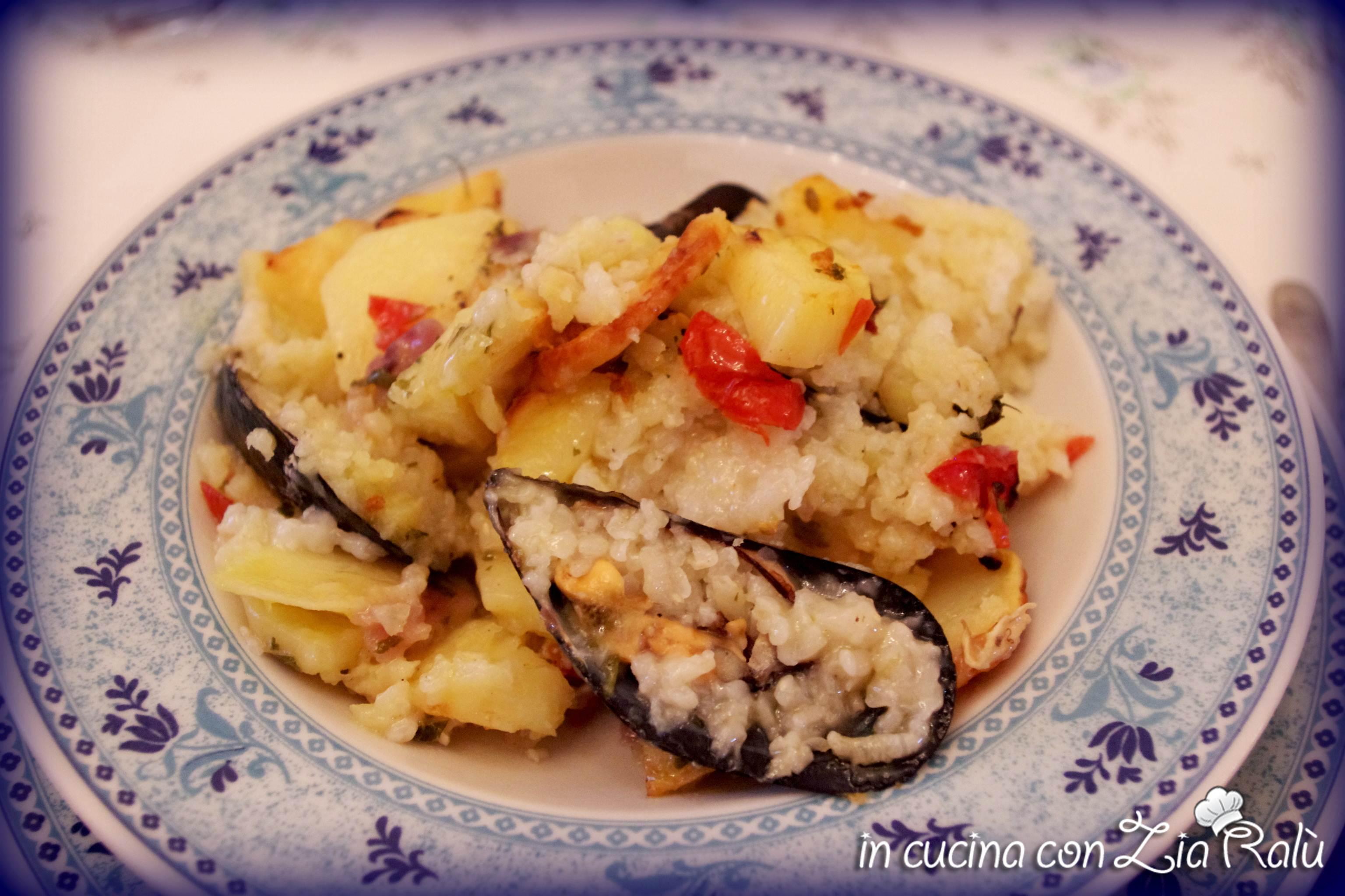 Patate riso e cozze... o meglio la Tiella barese