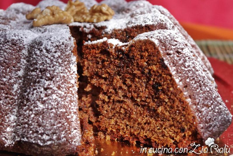 torta noci e cioccolato integrale