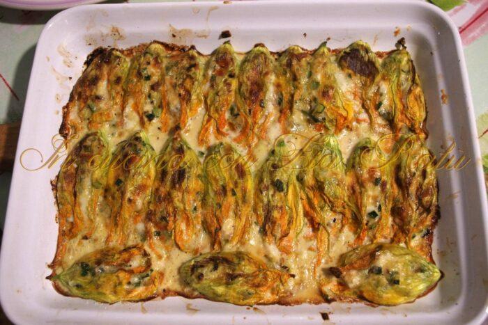 Fiori di zucca ripieni al forno - ricetta estiva