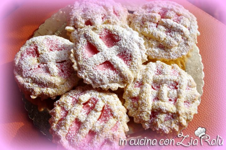 crostatine alla ricotta rosa