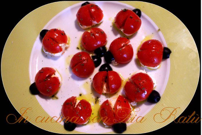 coccinelle di pomodorini
