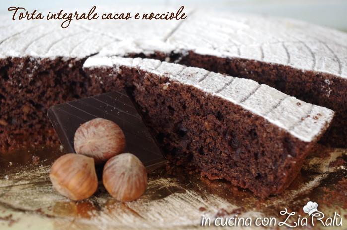 torta integrale cacao e nocciole