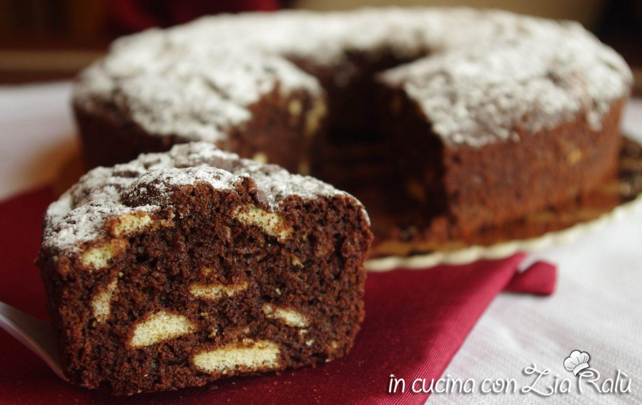 ciambellone al cioccolato con pavesini