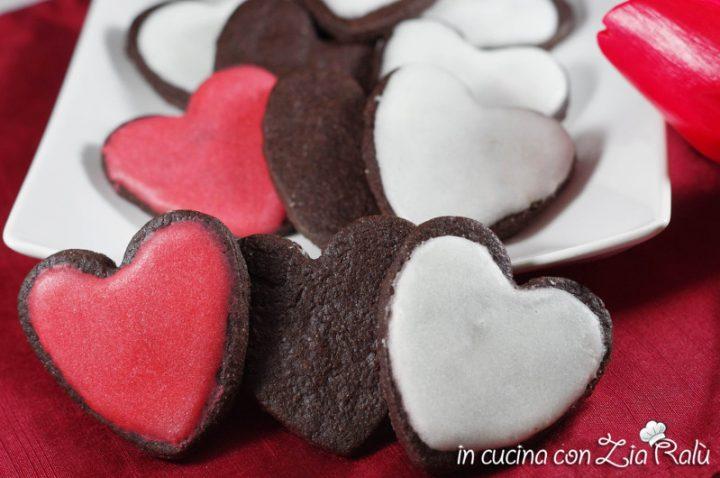 cuori al cacao glassati