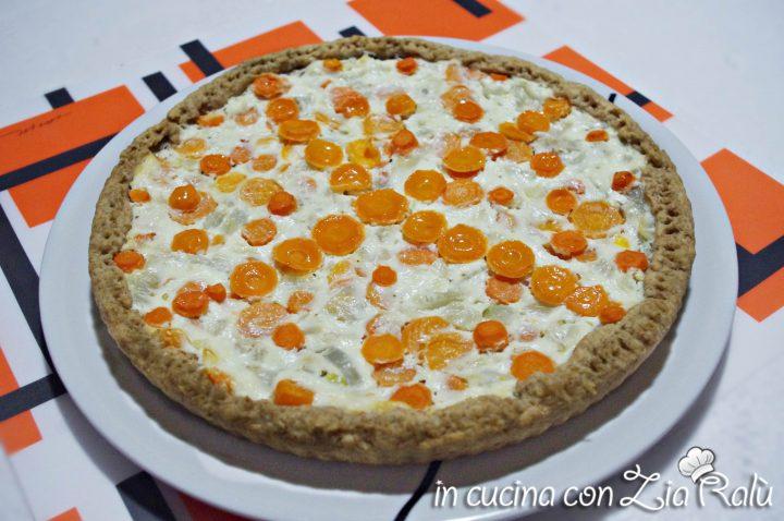 Quiche integrale carote e finocchi