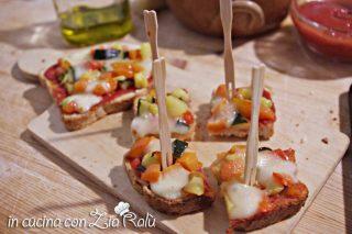 Pizzette alle verdure di pan bauletto