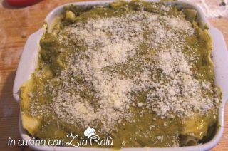 lasagne bianche fagiolini pesto