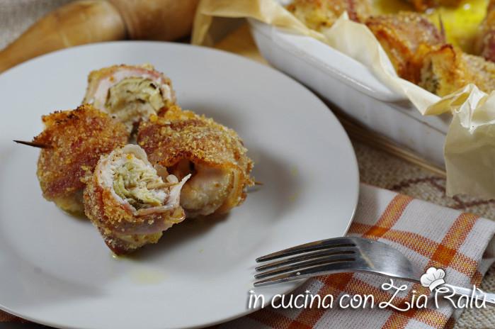 involtini di pollo carciofini e pancetta