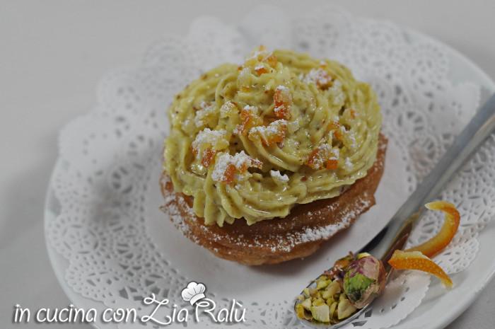 Zeppole fritte e crema pistacchi