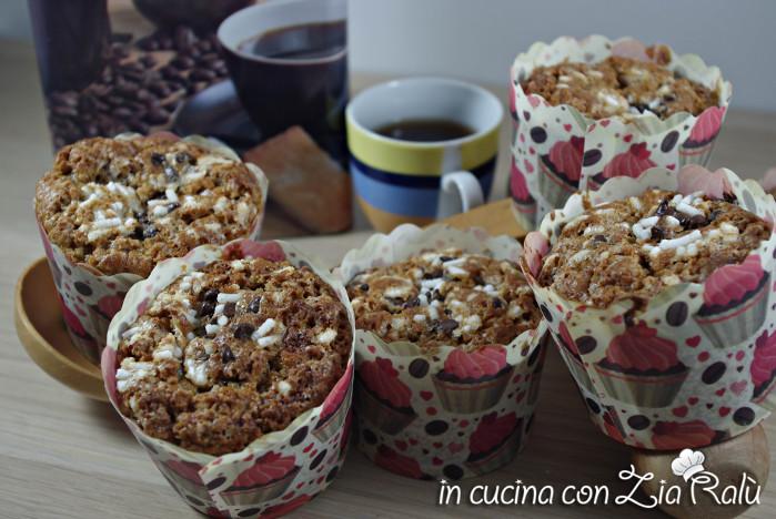 muffins al caffè e cioccolata bianca