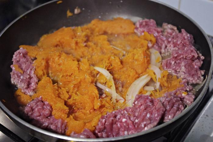 Crostata salata zucca e carne