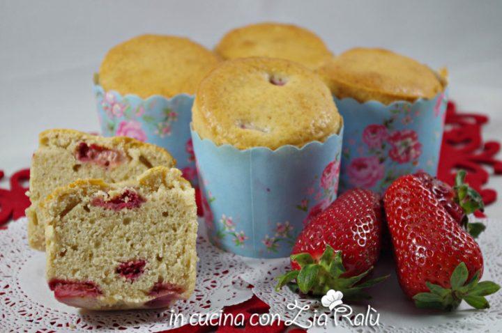 Muffins panna e fragole